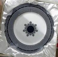 Комплект основни чинии с кобалт