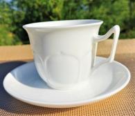 Бели чаши за кафе  фин костен порцелан