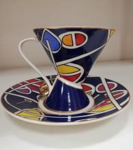 снимка на Синя чаша за кафе, чай, капучино
