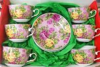 Комплект за чай/кафе с рози