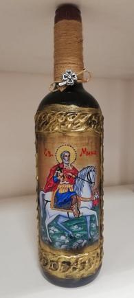 снимка на Вино с икона Св. Мина