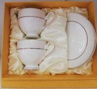 снимка на Чаши костен порцелан за кафе и чай