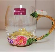 Чаша с цветя бутикова
