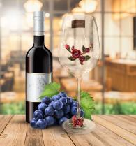 снимка на Две чаши за вино  кристално стъкло