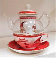 снимка на Комплект за чай с огнеупорно чайниче