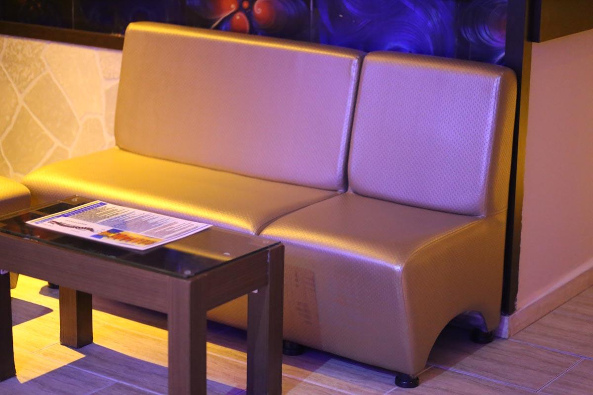 снимка на Кожен диван двойка за заведения по поръчка