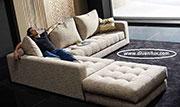 снимка на Лукс ъглов диван с качествена дамаска