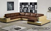 Ъглов диван с гъши пух по поръчка №27