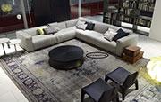 Капитониран ъглов диван с лежанка,  №96