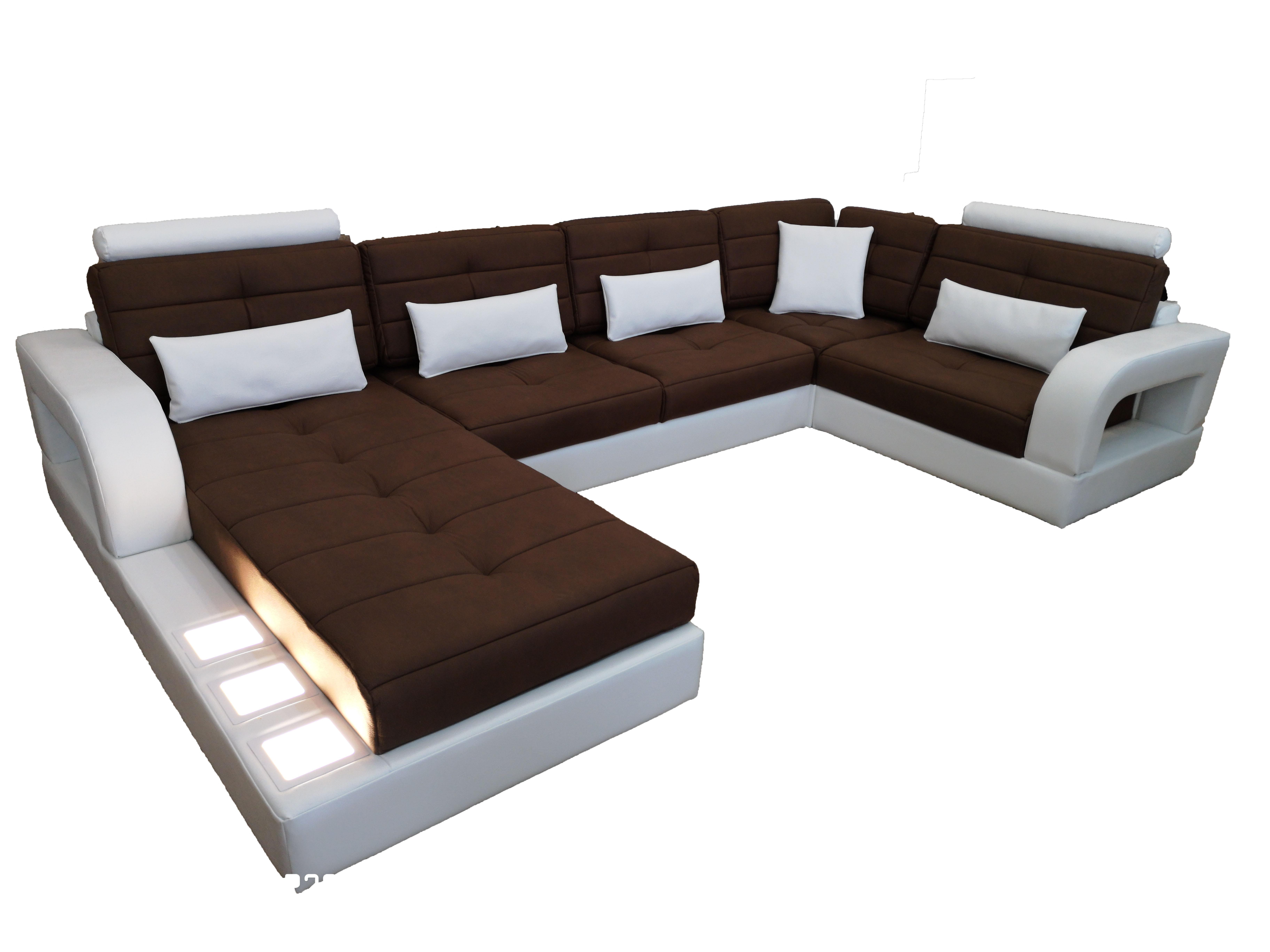 снимка на Луксозен ъглов диван с лежанка и италиански дунапрен цена