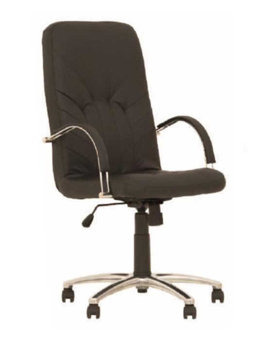 снимка на Офис стол Manager Steel еко кожа