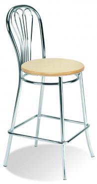 снимка на Бар стол VENUS hocker wood chrome
