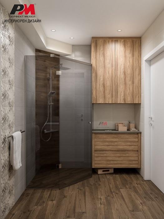 Луксозен интериор на баня в стилно градско жилище