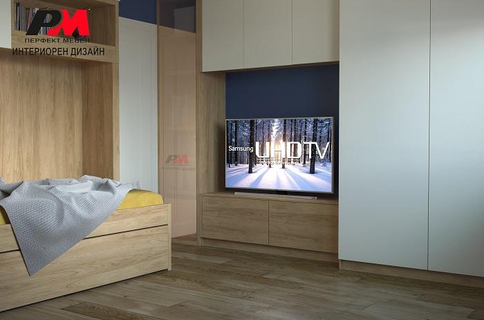 снимка на Удобство и стил в съвременният интериор дизайн на спалнята.