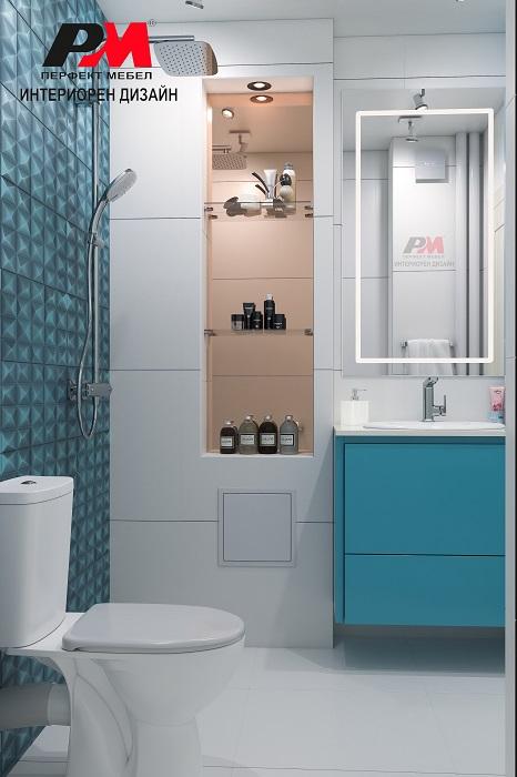 снимка на Практичност в модерния интериорен дизайн на банята.