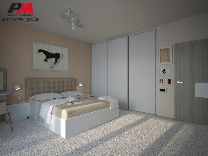 снимка на Изящен интериорен дизайн и съвременно звучене в спалнята