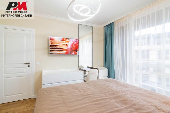 снимка на Изтънченост и разкош в интериора на градска спалня