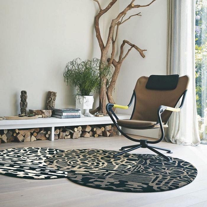 снимка на Модерен килим кръгове