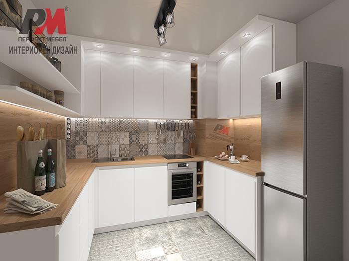 снимка на Елегантна и практична кухня в стил индустриален винтидж