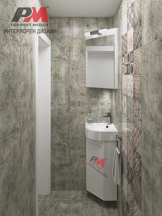 снимка на Малка баня в стил индустриален винтидж