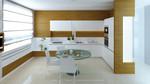 снимка на интериори за кухни в два цвята