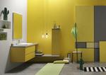 снимка на надеждни Цветни шкафове за баня плот технически камък водоустойчиви