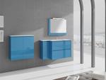 снимка на модерни Цветни шкафове за баня плот технически камък по индивидуален проект