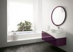 снимка на изискани Цветни шкафове за баня плот технически камък по поръчка