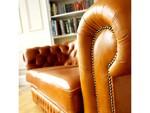 снимка на мека мебел Честърфийлд еко кожа цени