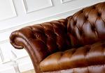снимка на мека мебел Честърфийлд еко кожа по размер