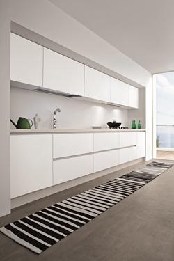 снимка на бяла кухня мдф гланц