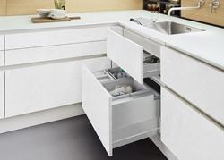 снимка на Бяла кухня мдф по пороект