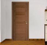 снимка на интериорни врати фурнир комбиниран фладер по размер