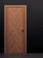 снимка на интересни интериорни врати фурнир комбиниран фладер