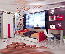 снимка на Модулни мебели за детска стая Рико