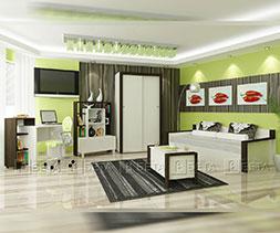 снимка на Модерни юношески мебели комплект Сити