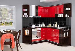 снимка на Ъглова кухня с цял термоплот Сити