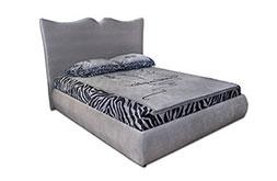 снимка на Сива тапицирана спалня еко кожа Бътерфлай