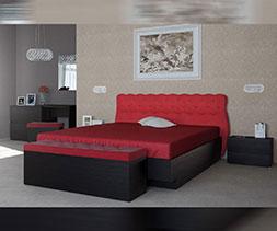 снимка на Легло с тапицирана табла Маркиза