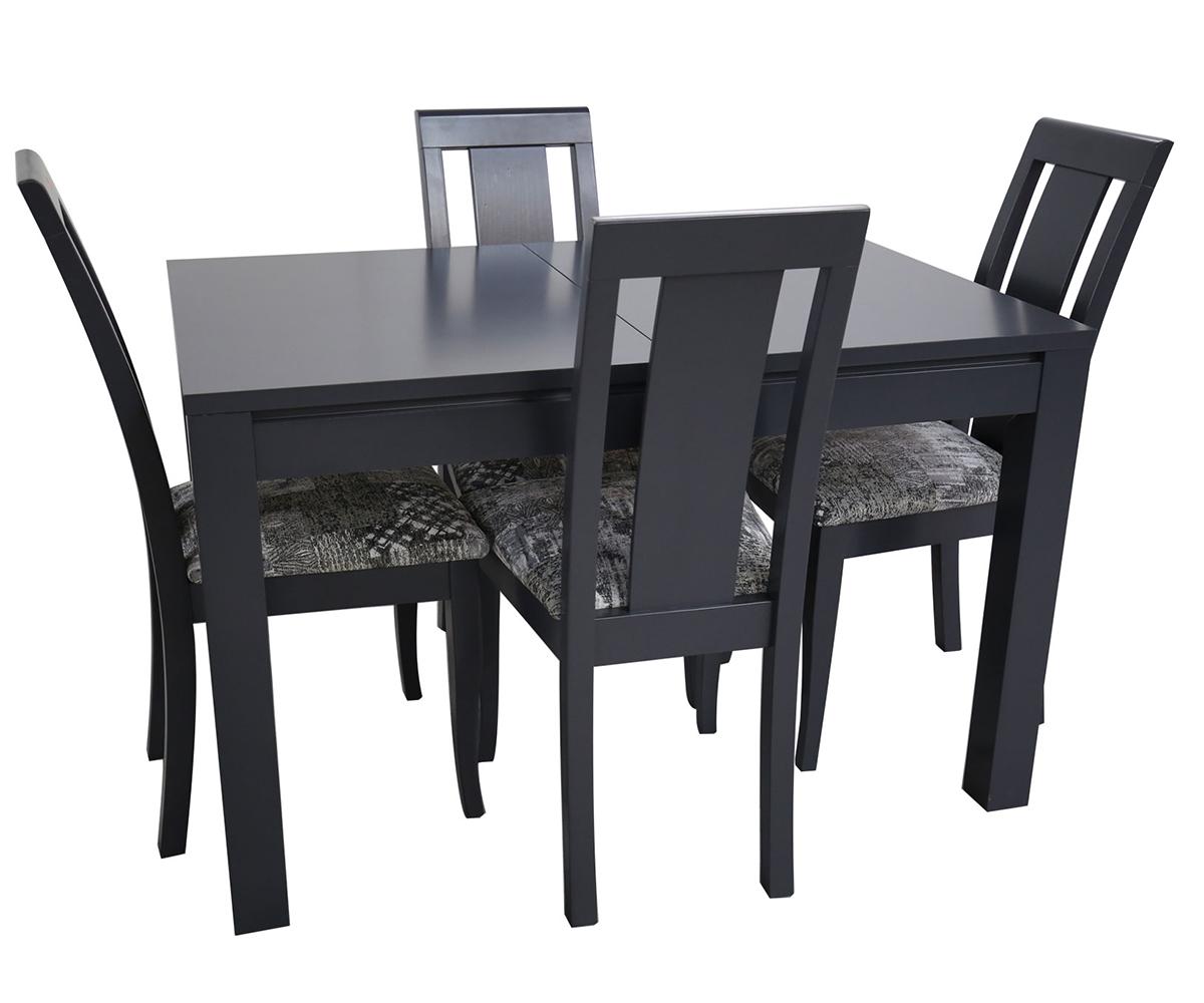 снимка на Комплект разтегателна маса с четири стола ТРОН  см./ +  см./ см.