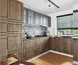 снимка на Комплект мебели за кухня ъглов модел Сити