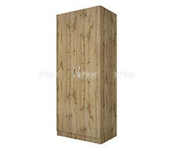 Двукрилен гардероб с рафт и лост Сити 1001