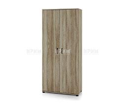 Двукрилен гардероб с три рафта Сити 6236
