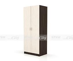 Двукрилен гардероб с лост и рафтове Сити 1007