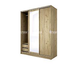 снимка на Трикрилен гардероб с плъзгащи врати Сити