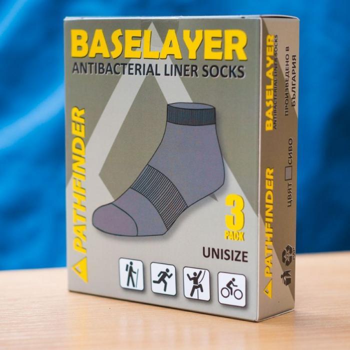 чорапи Baselayer Black 3pack