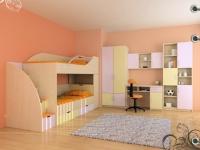 снимка на Детска стая с легло на два етажа