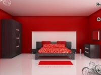 снимка на Спалня в тъмни цветове