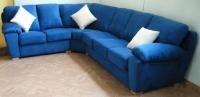 Син ъглов диван