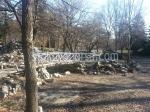 снимка на мостове за градина от дърво